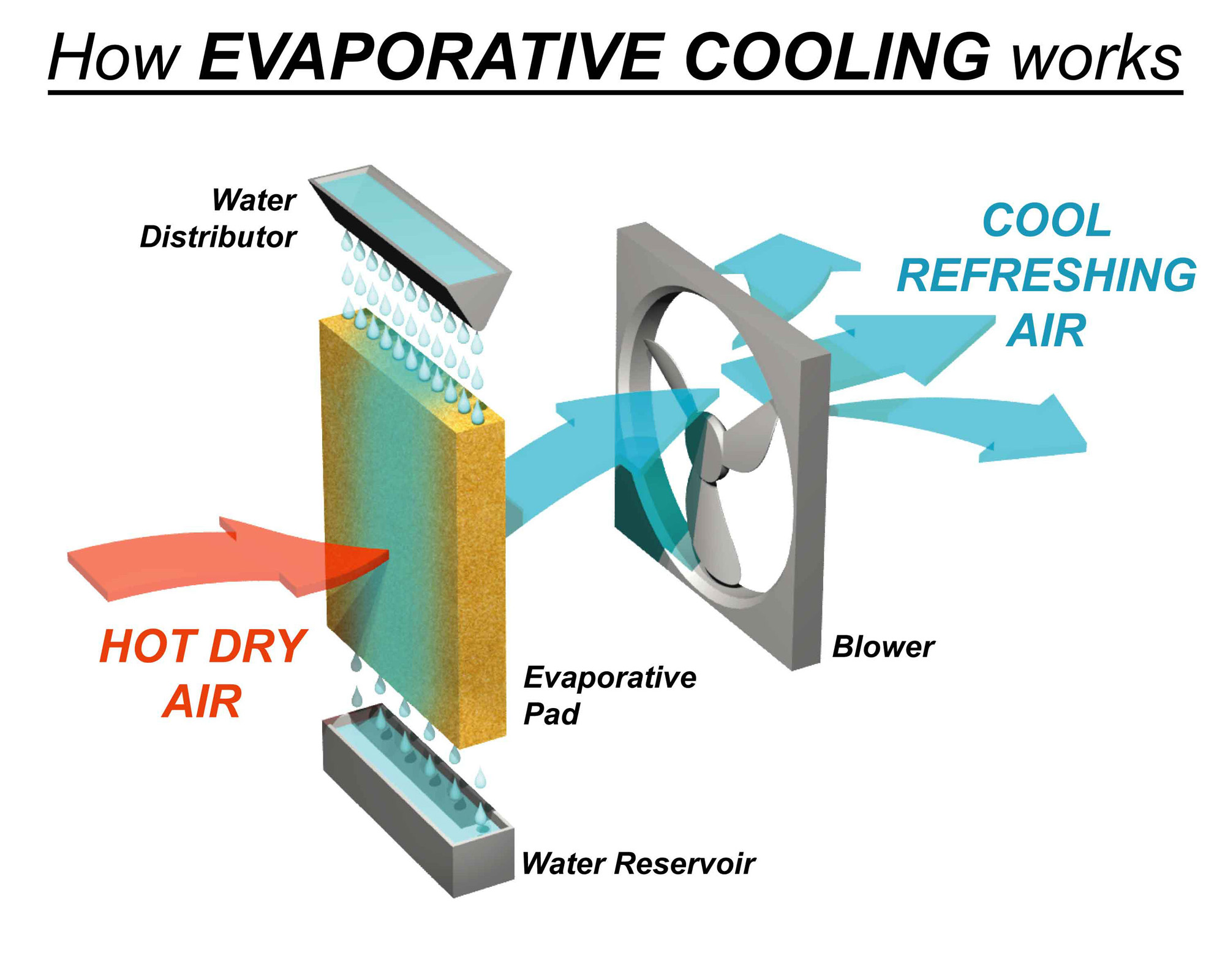 Split System vs Evaporative Cooling – What is the difference? #B63315