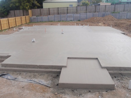 Three types of concrete foundations used for new homes for Concrete slab plans