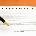 What is covered in the contract for property purchased off the plan?
